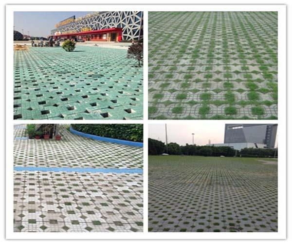X-type grass color cement tile press x cement brick machine